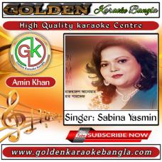 Ami Achi Thakbo | আমি আছি থাকবো | Bangla Karaoke | Sabina Yasmin