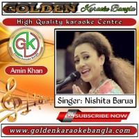 Aaj Mon Cheyeche Ami Hariye Jabo |আজ মন চেয়েছে আমি | Bangla karaoke By Nishita Barua
